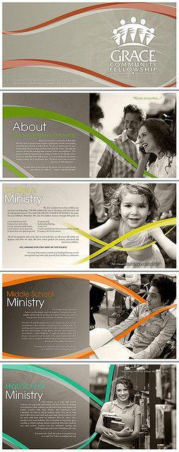 곡선 디자인Grace Community Fellowship brochures (continuous graphic element) - movement!