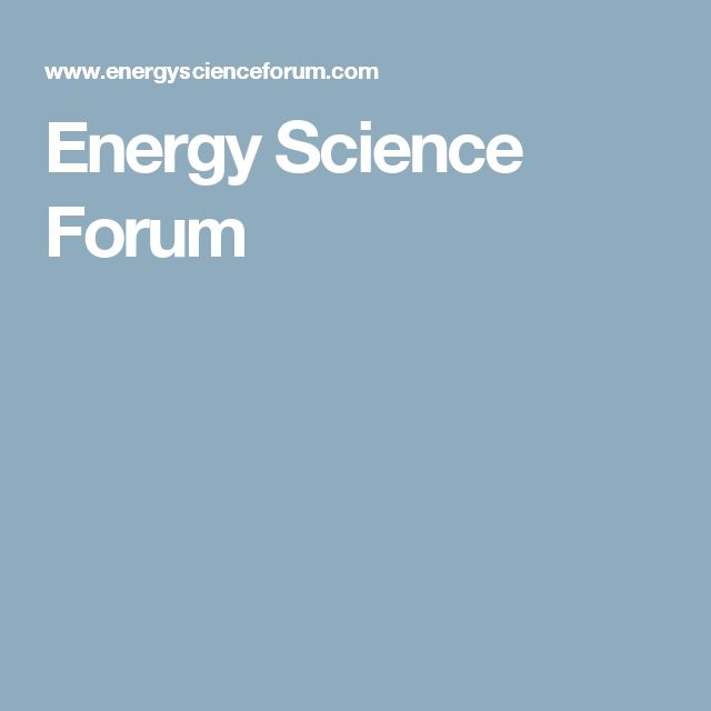 Energy Science Forum