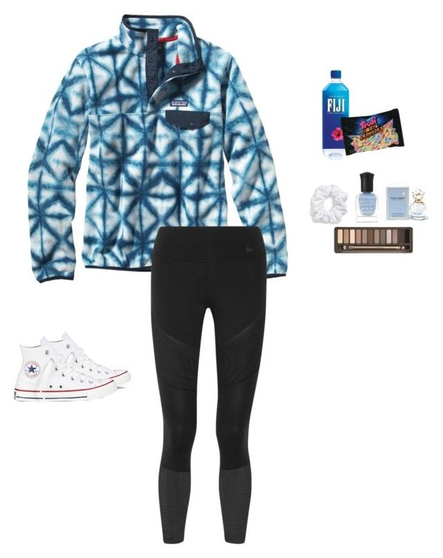 """I really like this patagonia :)"" by kendallthackston ❤ liked on Polyvore featuring Patagonia, NIKE, Converse, Natasha, Deborah Lippmann, Urban Decay and Marc Jacobs"