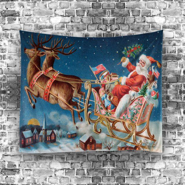 Mandala Tapiz Alfombra Del Hogar de Impresión de navidad Feliz Navidad Tapiz Tapices de Pared Decorativos Decoraciones Estera de Yoga S/M
