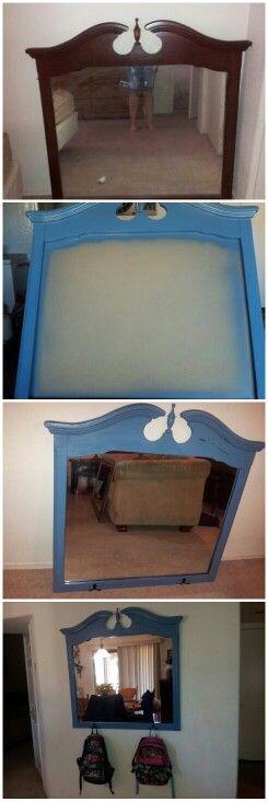 Old dresser mirror repurpose 2014 MH