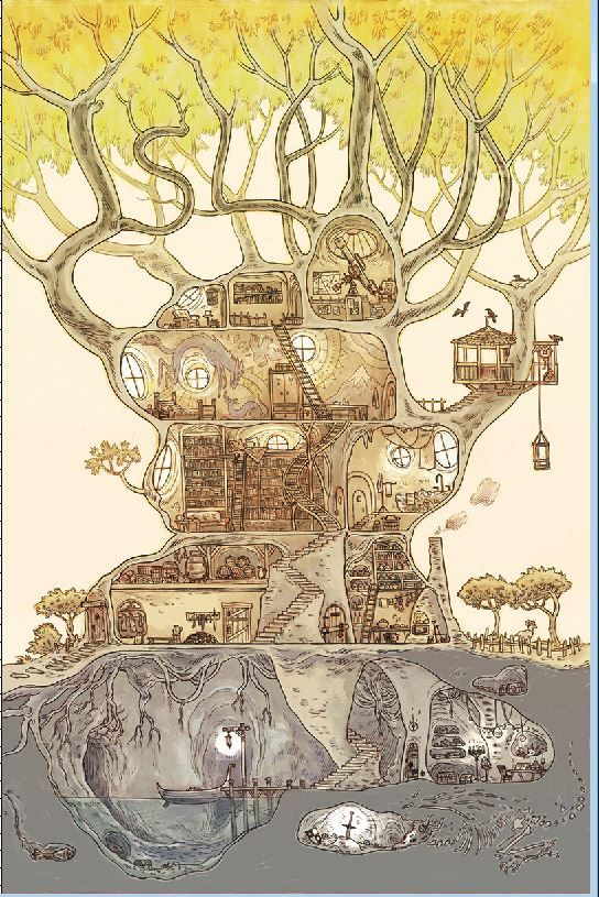 Brandon Graham ‏@royalboiler Marian Churchland's ISLAND #12 cover. (I love this cover)