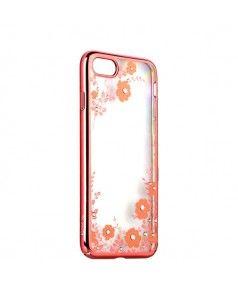 """Чехол-накладка KAVARO для iPhone 7 (4.7"""") пластик со стразами Swarovski 29H розовый (желтые цветы) купить в интернет-магазине BeautyApple.ru."""