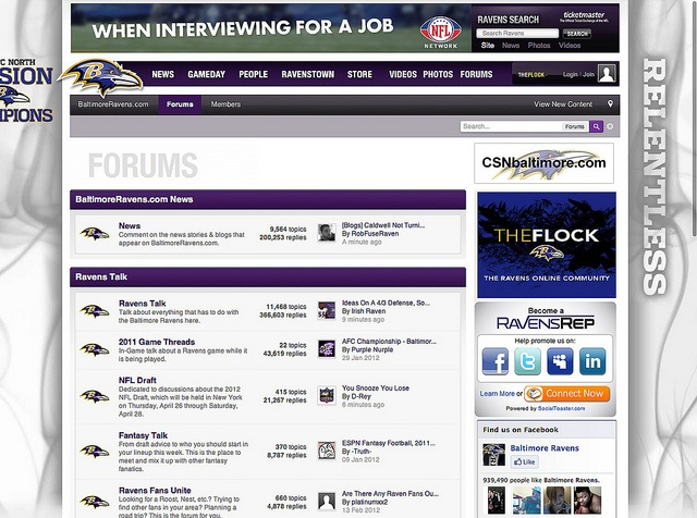 Official community design for the Baltimore Ravens.    boards.baltimoreravens.com/     Buy Cheap Baltimore Ravens Tickets we have a complete Baltimore Ravens Schedule and Sale On Tickets.  http://craigslisttickets.biz/ResultsEvent.aspx?event=Baltimore+Ravens=93