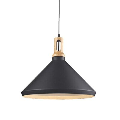 Matt cone scandinavian design pendant light large black jpg