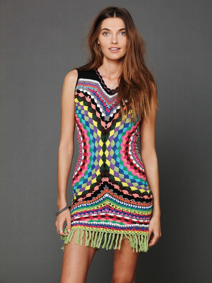 will make it longer or uses as a top with jeans as it Crinochet: Free People Connected in Crochet Fringe Dress