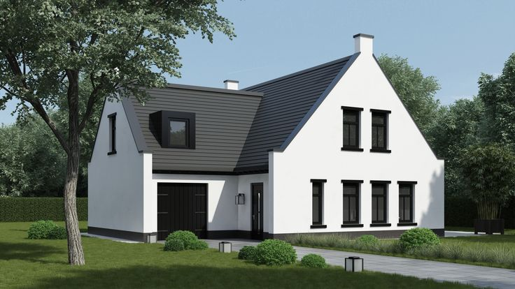 17 best images about huizen on pinterest the roof ramen and tes - Poel van blanco hoek ...