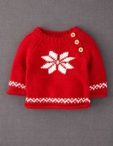 Well it is baby's first Christmas so she'll need her first Christmas jumper. #Bodenxmaswishlist Winter Jumper (Scarlet/Snowflake)