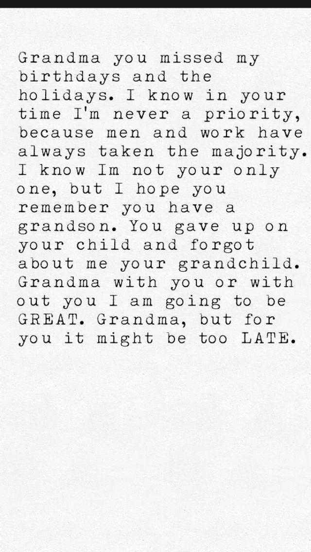Selfish grandma. Bad mothers. Bad Grandmas. Forgotten Child. Favoritism in the family.