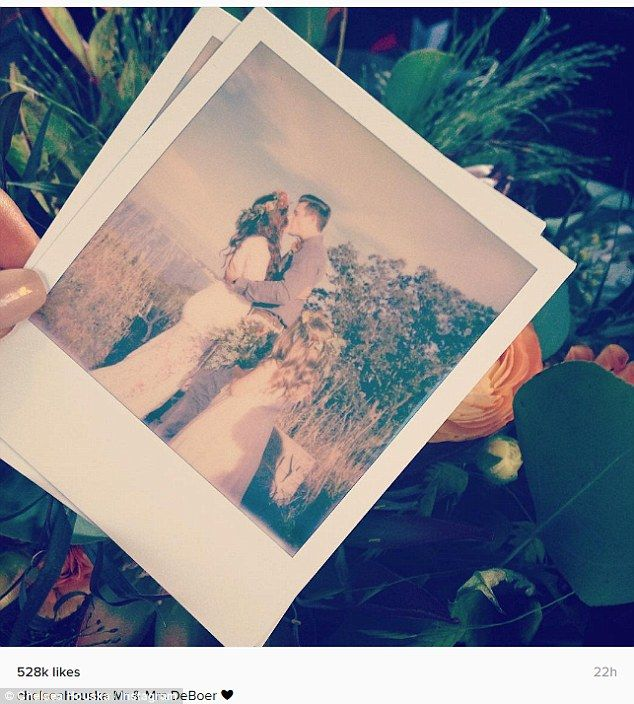 Country wedding: Teen Mom 2's Chelsea Houska and fiancé Cole DeBoer tied the knot at her father Randy Houska's South Dakota cabin on Saturday. She posted this Instagram the same day, captioned, simply:'Mr & Mrs DeBoer' with a heart emoji