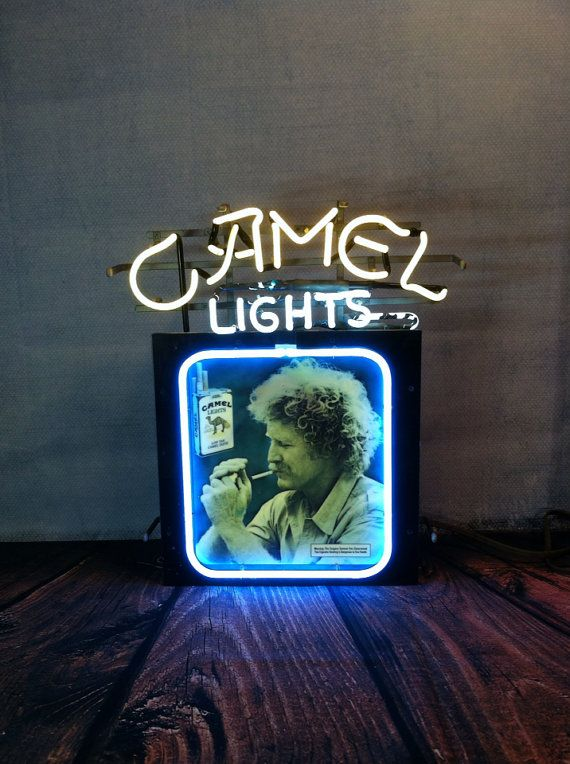 Vintage Joe Camel Light Neon Sign By Seansfindsanddesigns