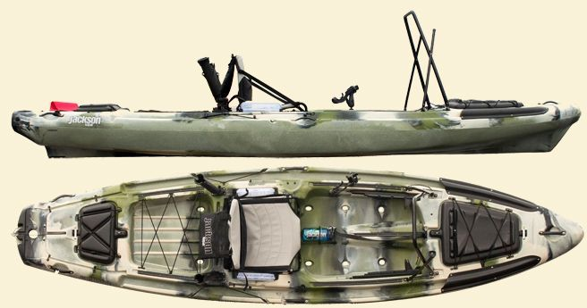 The Big Rig Offers The Most Stability and Rigging Potential of Any Jackson Fishing Kayak