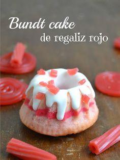 Cuuking!: Mini bundt cakes de regaliz rojo // red licorice mini bundt cakes