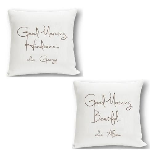 Couples Throw Pillow Set- Good Morning...