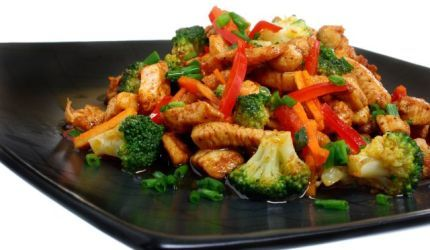 Kuracia panvica so zeleninou