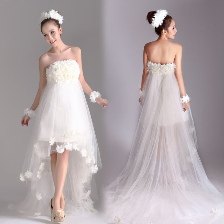 Strapless A-line charming bridal gown