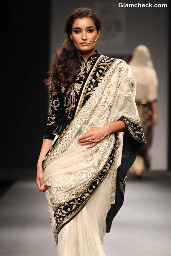 """Simplicity with Depth - """"Awadh"""" by Vineet Bahl at Wills Lifestyle India Fashion Week Fall-Winter 2013"""