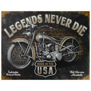 Vintage Metal Art 'Legends Never Die' Decorative Tin Sign