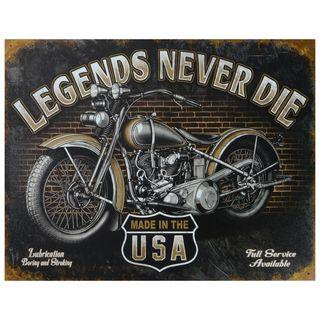 Vintage Metal Art 'Legends Never Die' Decorative Tin Sign