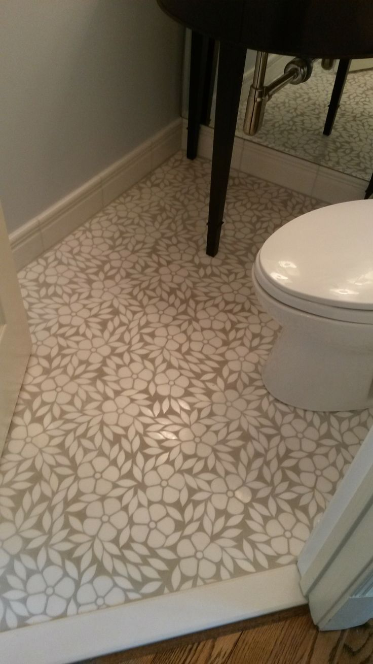 Adding a fun and bold mosaic floor #tile really jazzes up those tiny powder rooms!! #TileSensations