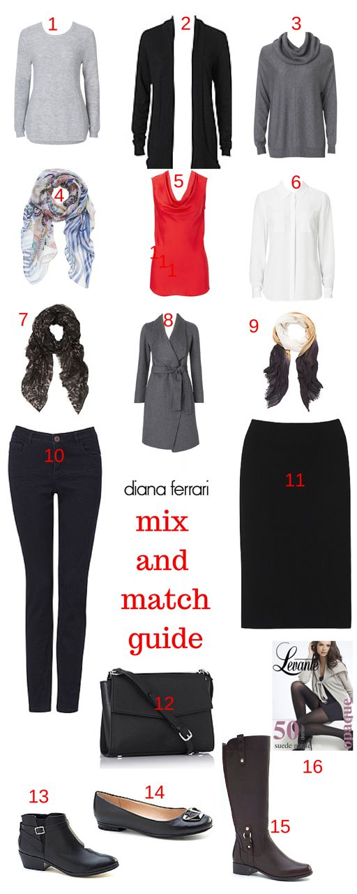Create 80 outfits from just 16 pieces!  Knowing how to mix and match your outfits is something I often hear you ask. If you believe the statistics that you only wear 20% of your wardrobe most of the time then this is time for us to get to work!