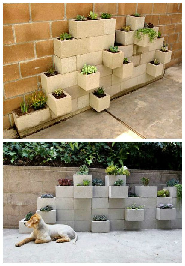 Diy Modern Planter From Upcycled Cinder Blocks Recycled