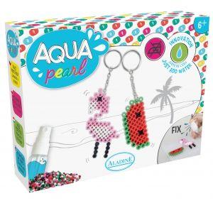 Petit coffret Aqua Pearl Aladine - Porte-clé Floride CREA 6-9 ANS : Coffret Aqua Pearl de la marque Aladine sur le thème Porte clé Floride / Tropical.