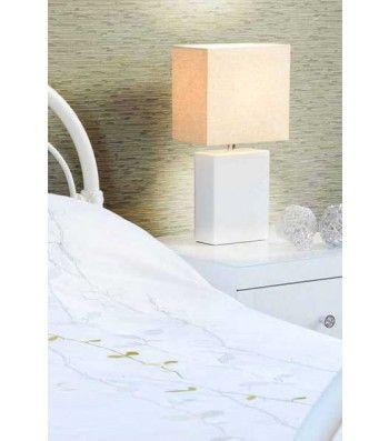 White Bedside Desk Lamp