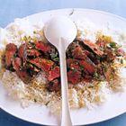 Een heerlijk recept: Nigella Lawson: steak met sak�saus en rijst