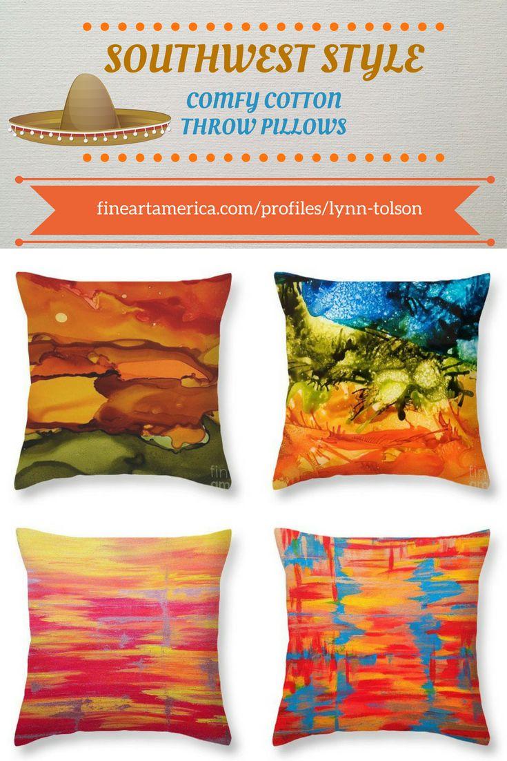 Southwest style abstract art throw pillows by artist-designer #LynnTolson #FineArtAmerica to buy click image #ThrowPillow #CouchPillow #HomeDecor #HomeDesign #HomeAccessories #SouthwestStyle #CountryWestern #Western #RanchHouseDecor #DesertHomeDecor