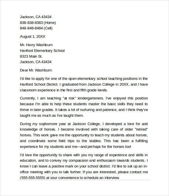 esl teacher cover letter samples example sample position