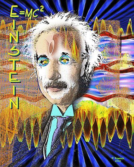 Albert Einstein FAMOUS PEOPLE POP ART PORTRAIT By ROWNAK