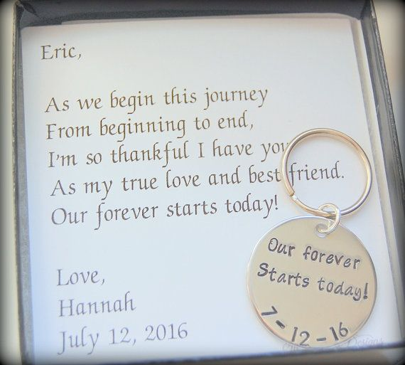Groom Gift, Our forever starts today, From Bride to Groom, Gift to Fiance, Gift from bride to groom, Custom wedding keychain ,  So Blessed Designs