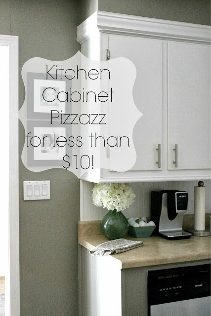 Grace Lee Cottage: Add pizzazz to your kitchen cabinets for less than $10!