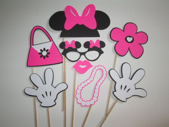 Life Size Minnie Mouse Props / Set Of 8 / by prettypapersprinkles, $13.50