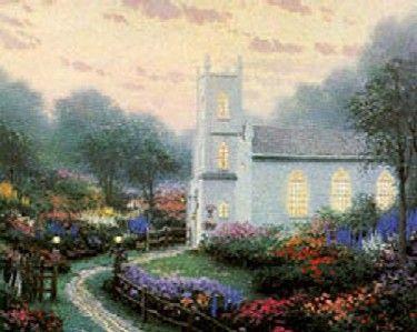 Blossom Hill Church ~ Thomas Kinkade