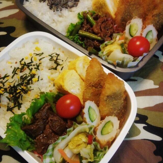 今日もプッチンプリン付き - 44件のもぐもぐ - 11月20日(木) 高1男子とパパ弁当 焼き肉、大葉ささみフライ、だし巻き玉子、ちくわキュウリ、ゆず白菜漬け物、プチトマト by Tomoko