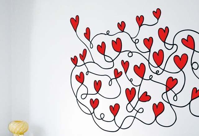 vinilo corazones san valentin chispum Vinilos de san Valentín