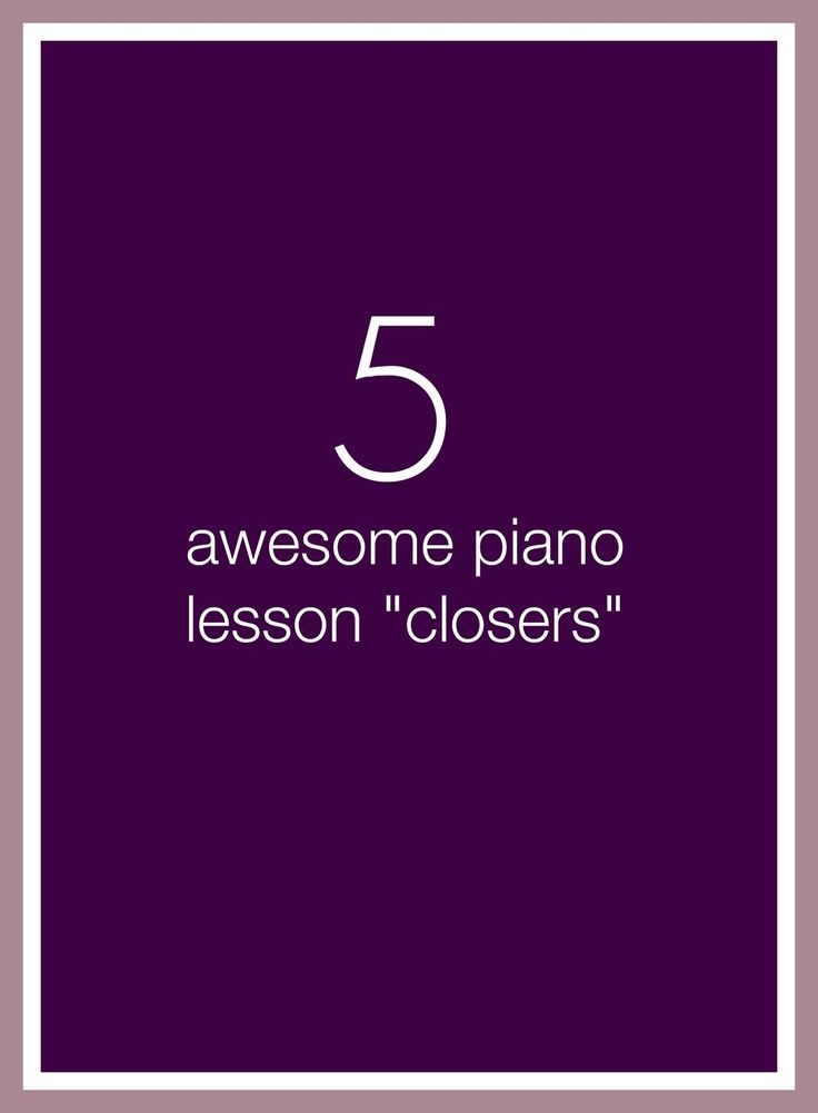 **Printed** 5 minutes left at the end of a piano lesson? Choose one of these 5 activities and send your piano kids out with a smile! | www.teachpianotoday.com #pianoteaching #pianolessonactivities #piano