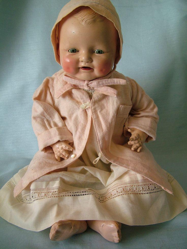 Details About Lovely Large Antique Composition Vanta Doll