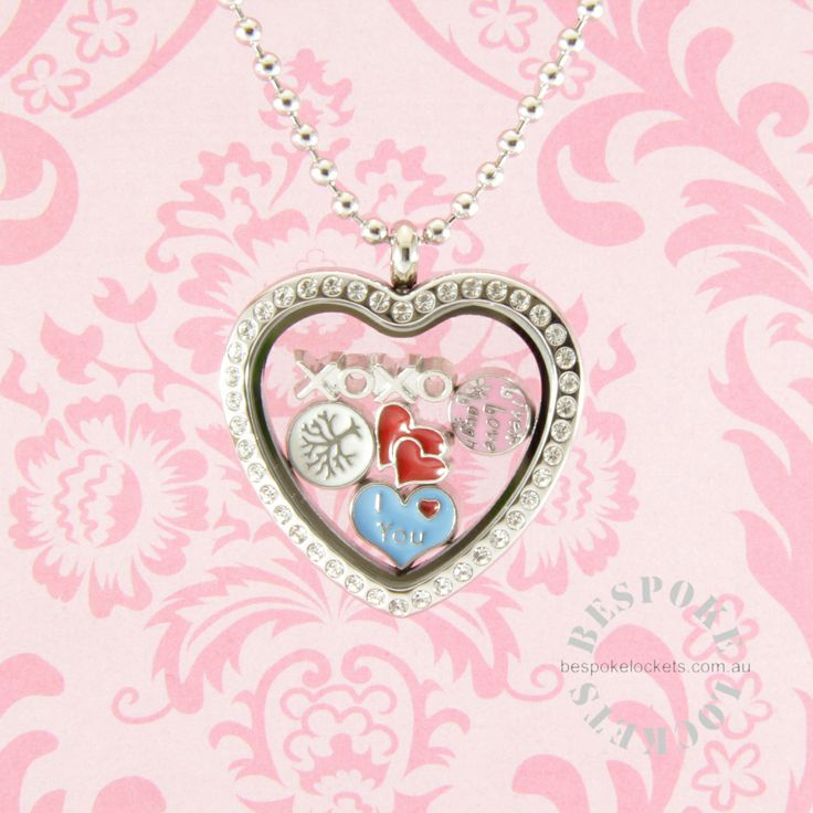 Heart Locket with Floating Charms