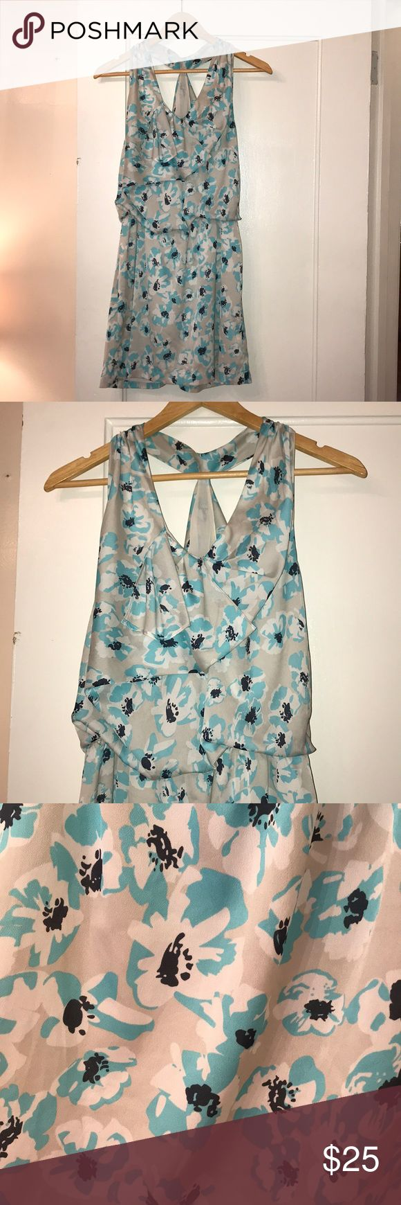 """Summer Dress Subtle floral-patterned dress with T back. Worn once. Great for graduation, weddings, engagement parties or any occasion. Dress up with heels or down with a denim jacket. I'm 5'5"""" and it hits just above the knee. Miss Me Dresses Mini"""