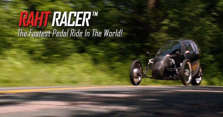 Raht Racer, el triciclo eléctrico a pedales que alcanza los 100 km/h