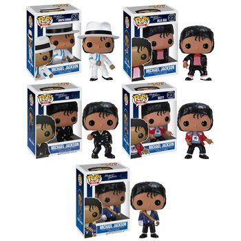 Funko MICHAEL JACKSON 3.75″ POP VINYL FIGURE SET OF 5 – Billie Jean – Beat It – Bad – Military – Smooth Criminal http://popvinyl.net #funko #funkopop #popvinyls