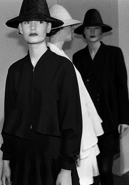 comme des garçons backstage, 1987