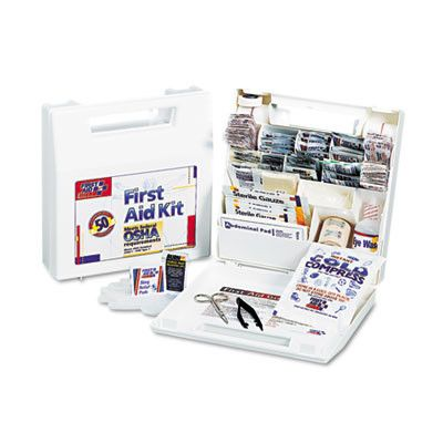 First Aid Kit for 50 People, 195 Pieces, Osha/Ansi Compliant, Plastic Case