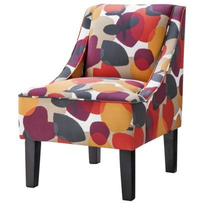 Hudson Swoop Chair - Red Floral