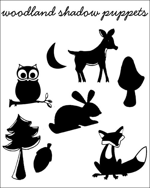 DIY: Woodland Creatures and Scenery Shadow Puppets