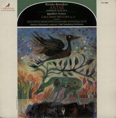 Nikolai Rimsky-Korsakov Antar Symphonic Suite, Op. 9 1971 UK vinyl LP VCS-10060: MAURICE ABRAVANEL conducts THE UTAH SYMPHONY ORCHESTRA…