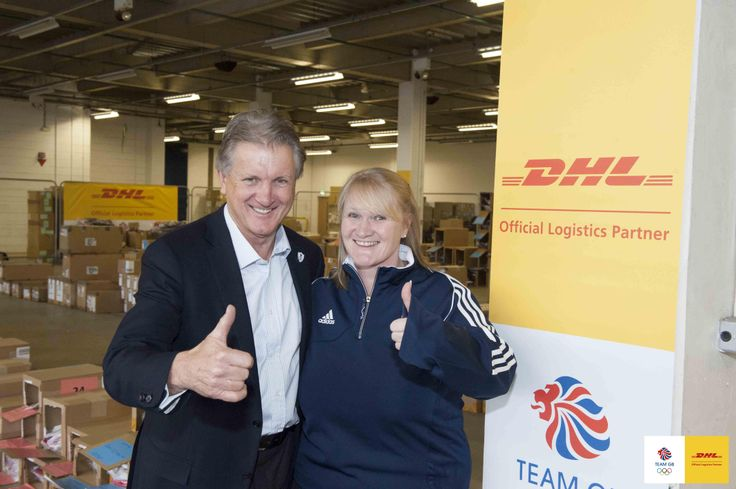 Olympic Curling Gold Medallist Rhona Martin gives DHL a big thumbs up!
